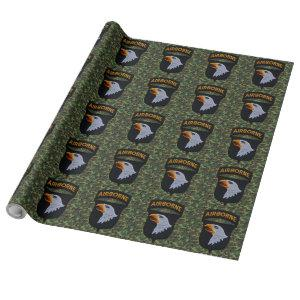 101st airborne screaming eagles patch wrapping paper