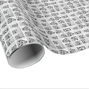 16 Photo Collage - square pics white background Wrapping Paper