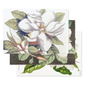 18TH CENTURY MAGNOLIAS HEAVY WEIGHT DECOUPAGE WRAPPING PAPER SHEETS
