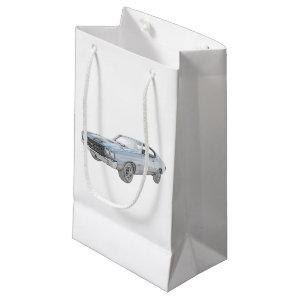 1970 chevy chevelle blue small gift bag
