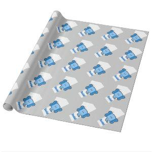1st Birthday ELEPHANT Year Old Custom Boy Name Wrapping Paper