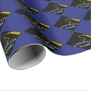 2021 blue graduation wrapping paper