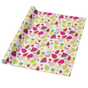 2nd Birthday Two-tti Frutti Fruit Birthday Party Wrapping Paper