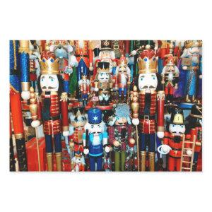 3 Christmas Nutcracker Wow Colorful Nutcrackers Wrapping Paper Sheets