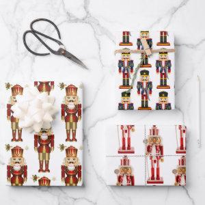 3 Soldier Nutcracker Christmas Wrapping Paper