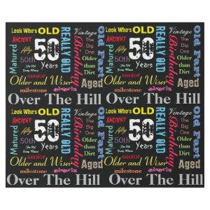 50th Happy Birthday in a Graffiti Style Wrapping Paper