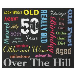 50th Happy Birthday in a Large Graffiti Design Wrapping Paper