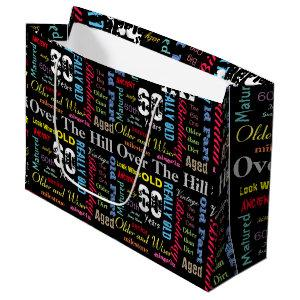 60th Happy Birthday in a Graffiti Style Large Gift Bag