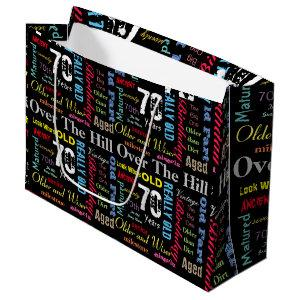 70th Happy BIrthday in a Graffiti Style Large Gift Bag