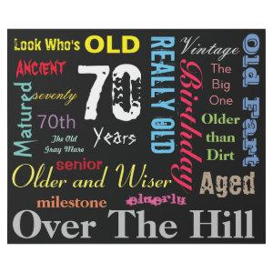 70th Happy Birthday Subway Art | Milestone Wrapping Paper