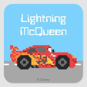 8-Bit Lightning McQueen Square Sticker