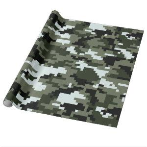 8 Bit Pixel Digital Urban Camouflage / Camo Wrapping Paper