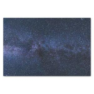 A galaxy of stars in the night sky tissue paper