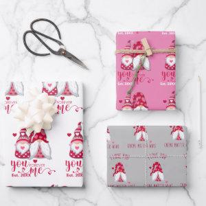 A Gnome for Valentines | Valentines Day Wrapping Paper Sheets