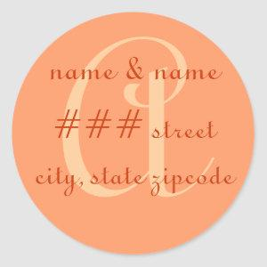 """A"" monogram return address label - perzonalize"