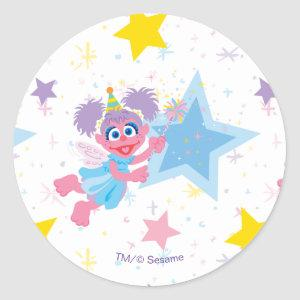 Abby Cadabby Party Star Pattern Classic Round Sticker