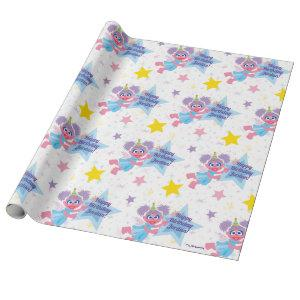 Abby Cadabby Party Star Pattern Wrapping Paper