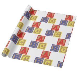 ABC Blocks Wrapping Paper