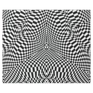 Abstract black and white checkered pattern wrapping paper