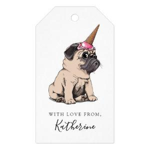 Add Your Name | Puppy Pugs | Aspiring Unicorn Gift Tags