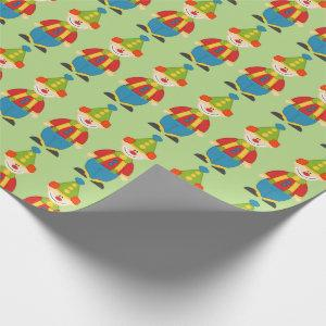 Adorable Circus Clown Wrapping Paper