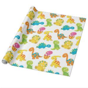 Adorable Dinosaur Wrapping Paper