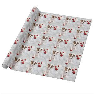 Adorable Jack Russell Puppy Christmas Gift Wrap #2