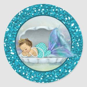 Adorable Mermaid Baby Shower sticker stickers #130