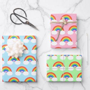 Adorable Rainbow Pattern Colorful  Sheets