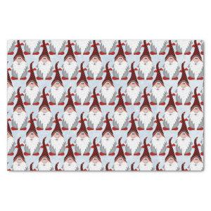 Adorable Red Black Gnome Xmas Christmas Kids Tissue Paper