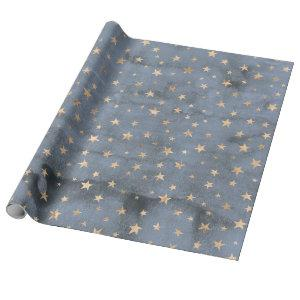 Adorable watercolor twinkle gold star lavender