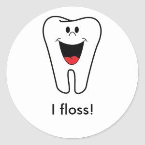 Adulting: I floss Classic Round Sticker