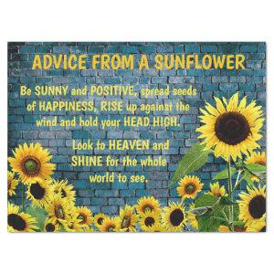 ADVICE FROM A SUNFLOWER TISSUE PAPER
