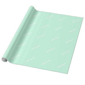 Aero blue wrapping paper
