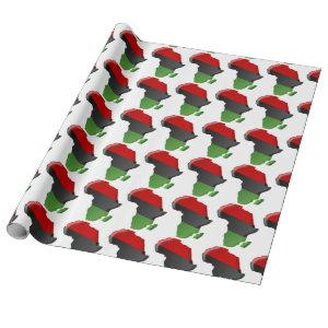 African American, Happy Kwanzaa Wrapping Paper