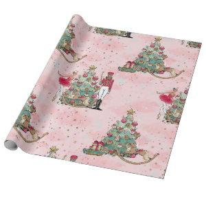 African American Nutcracker Ballet Dance Christmas Wrapping Paper