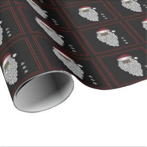 African American Santa Christmas Wrapping Paper