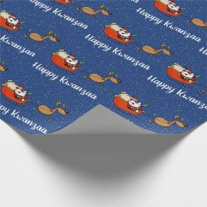 African American Santa Claus Kwanzaa Celebration Wrapping Paper