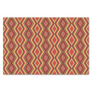 African Red Green Orange Yellow Ethnic Art Tissue Paper