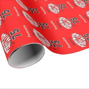 Aged to Perfection at 75 Wrapping Paper