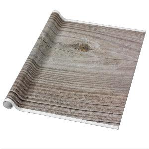 Aged Wood Wrapping Paper