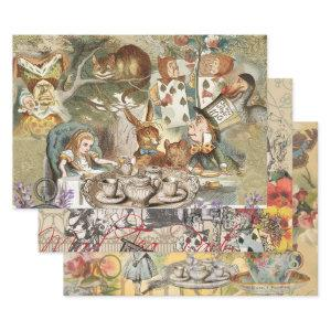 Alice Adventures in Wonderland Mad Tea Party Wrapping Paper Sheets