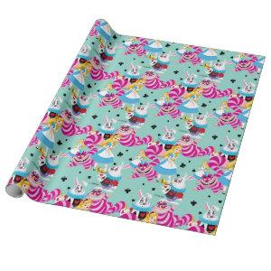 Alice In Wonderland | Colorful Fun Pattern Wrapping Paper
