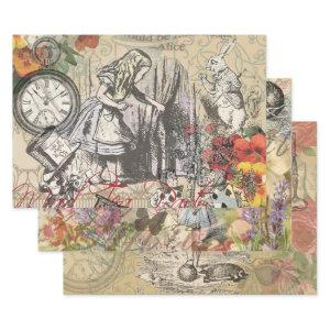 Alice in Wonderland Curtain Nonsense Wrapping Paper Sheets