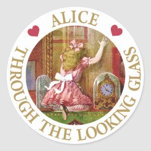 Alice Through The Looking Glass Classic Round Sticker