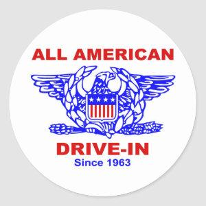 All American HAMBURGER Drive IN of Massapequa Classic Round Sticker