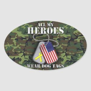 All My Heroes Wear Dog Tags - Camo