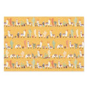 All the Llamas Wrapping Paper Sheets