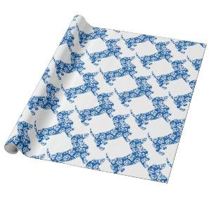 Aloha-Doxie-Blue Wrapping Paper