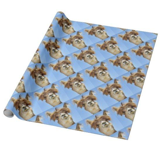 Personalised Wrapping Paper LLAMA party Alpaca Birthday with own name